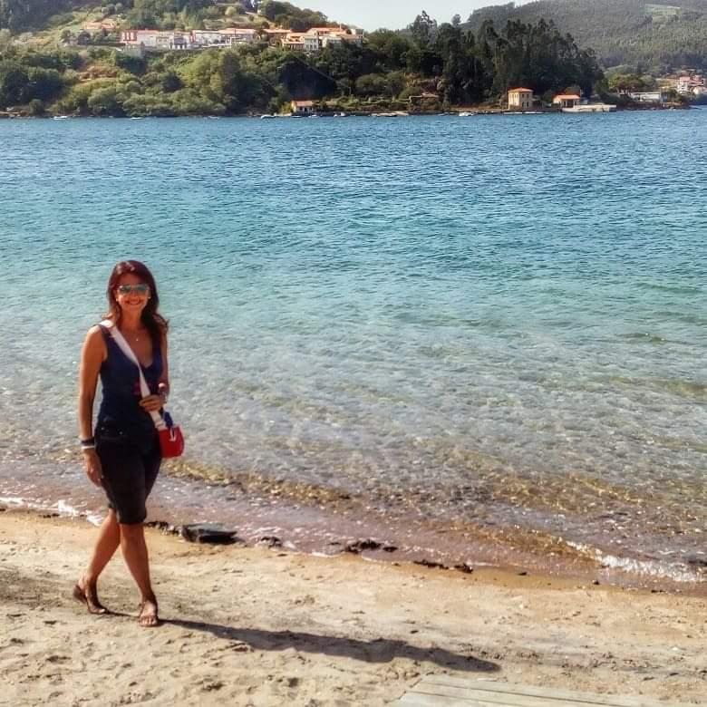 @laura_naturalmente playa de la Bestarruza en Mugardos.