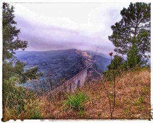 @laura_naturalmente desde el Mirador - Vistas del Puente de Gundian en A Estrada - Pontevedra