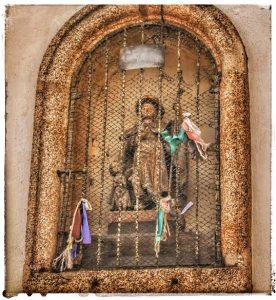 @lauranaturalmente  imagen de San Roque en Mondoñedo - Consistorio - Actual Biblioteca - Mondoñedo ciudad Pueblo de Mondoñedo