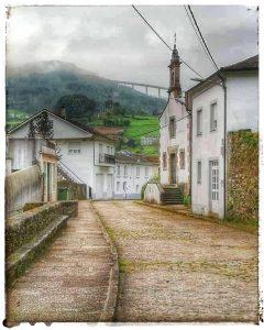 Mondoñedo ciudad Pueblo de Mondoñedo - Iglesia de SAn Roque - Calle Álvaro cunqueiro