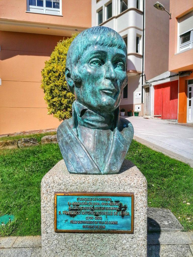 @lauranaturalmente Busto del almirante Francisco Antonio Mourelle de la Rúa.