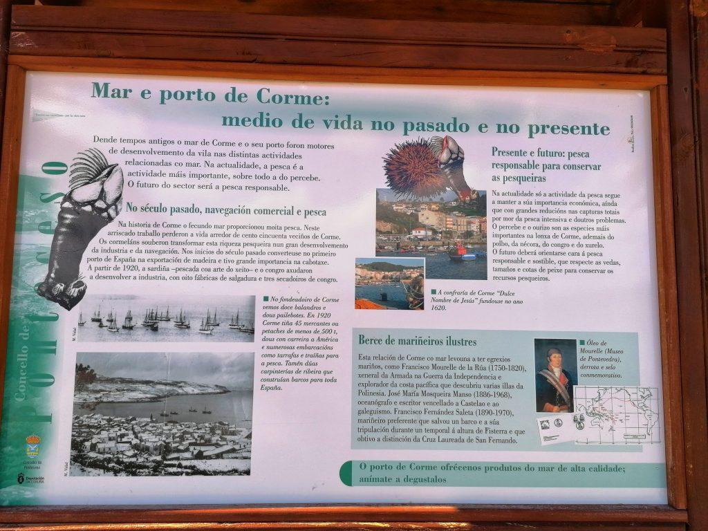 @lauranaturalmente Panel Informativo Mar y Puerto de Corme: medio de vida en el pasado y en el presente. EL PERCEBE