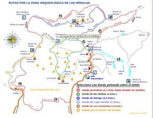 @lauranaturalmente Las Médulas en el Bierzo, Castilla y León. Mapa rutas por la Zona Arqueológica de las Médulas