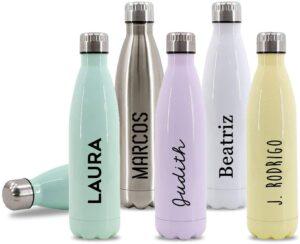 Botellas de Agua Personalizadas con Tu Nombre - lo mejor para esta época de COVID19
