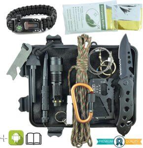 Kit de Supervivencia Militar Profesional de Tercera Generación Emergencia Montaña