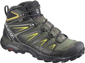 SALOMON Shoes X Ultra 3 Wide Mid GTX Castor Gra, Botas de montaña para Hombre